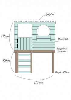 DIY: Sweet playhouse - Private House and Garden Diy Playhouse, Playhouse Outdoor, Backyard Playground, Backyard For Kids, Cubby Houses, Play Houses, Casas Club, Casa Kids, Wendy House