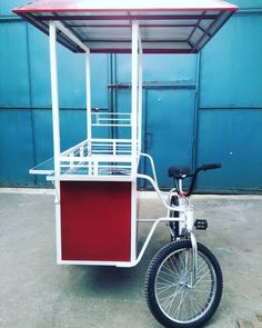 Makers of Food Carts and Food Stalls, Tents, Roll up doors and other metal works services. Mobile Coffee Cart, Mobile Food Cart, Coffee Carts, Coffee Truck, Food Truck, Bicycle Cart, Food Cart Design, Bike Food, Korean Street Food