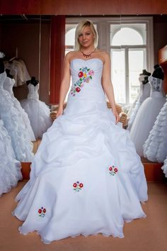 If You Like Can In The Embroidery Need To Get Kalocsa Embroidered Wedding Dress