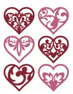 6 damask flourish hearts by kolette hall #73199