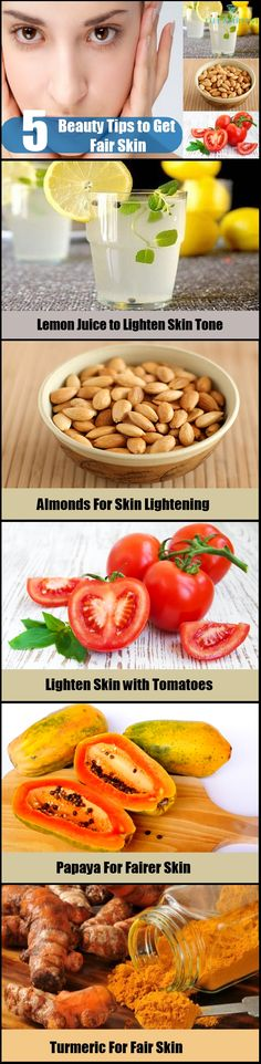 How To Get Fairer Skin And Lighten Skin Tone Naturally