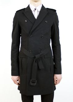 Trench coats are one of the sexiest pieces you can own. Black ones are especially sexy.