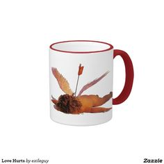 Love Hurts Ringer Coffee Mug Love Hurts, Your Design, Coffee Mugs, Cool Designs, Cool Stuff, Create, Tableware, Cyber, Mall