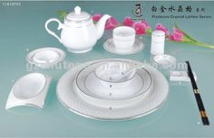 Dinnerware Sets Product | ... Categories > Chinaware > Luxury silver surface ceramic dinnerware set