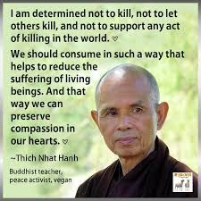 I am determined not to kill, not to let others kill, and not to support any act of killing in the world. We should consume in such a way that helps to reduce the suffering of living beings. And that way we can preserve compassion in our hearts. Vegan Facts, Vegan Memes, Vegan Quotes, Reasons To Be Vegan, Why Vegan, Thich Nhat Hanh, Vegan Animals, Animal Rights, Worlds Of Fun