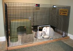Great website with a bunch of do-it-yourself rabbit enclosures for house rabbits!