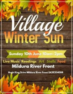 Find Events ads in Mildura Region, VIC. Buy and sell almost anything on Gumtree classifieds. Reading Music, Reading Art, After School, School Fun, Fall Bake Sale, Winter Sun, Fall Baking, Am Pm