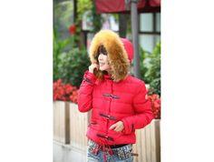 sale Moncler Crecerelle Damen Daunen Jacke Rot österreich