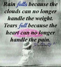 Rain falls Tears fall