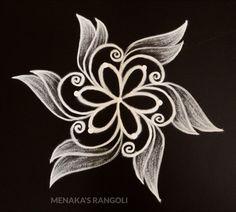 Rangoli Side Designs, Simple Rangoli Border Designs, Rangoli Simple, Rangoli Designs Latest, Rangoli Patterns, Free Hand Rangoli Design, Small Rangoli Design, Rangoli Designs Diwali, Rangoli Designs With Dots