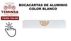 Bocacartas Blanco y Recogecartas Aluminio Teminsa Online