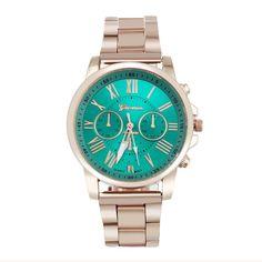 aca314405ef Luxusní dámské sportovní stylové jasně modré hodinky s kovovým páskem Na  tento produkt se vztahuje nejen