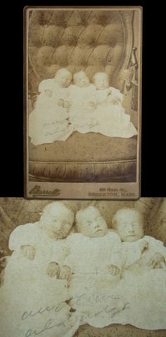 Victorian Baby Death | Three Angels – Victorian Death Photo