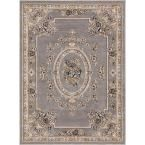 Timeless Le Petit Palais Gray 7 ft. 10 in. x 10 ft. 6 in. Traditional Area Rug