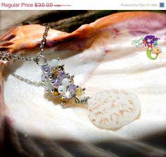 Shell Necklace from Hawaii seashell Hawaiian jewelry for beach brides by Mermaid Tears seashell jewelry made in Hawaii North Shore Oahu...