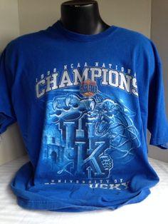 UNIVERSITY OF KENTUCKY WILDCATS, 1998 NCAA CHAMPIONSHIP, MEN, XL,PROPLAYE,COTTON #PROPLAYER #KentuckyWildcats