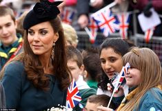 The Duchess of Cambridge joins the Queen on the first day of the Diamond Jubilee tour on 8 March 2012