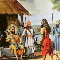 Guru Gobind Singh Ji and Banda Singh Bahadur Guru Tegh Bahadur, Baba Deep Singh Ji, Guru Nanak Wallpaper, Guru Nanak Ji, Guru Pics, Shri Guru Granth Sahib, Lion Photography, Mythological Characters, Guru Gobind Singh