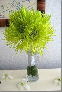 lime green bridesmaid bouquets