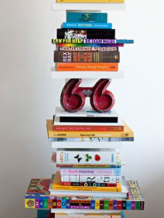 I just don't know how I'm getting out the books at the bottom without toppling everything over.