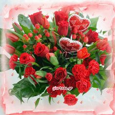 Flowers gif giortazo Devin Art, Flowers Gif, Happy Friendship Day, Good Morning Gif, Gif Pictures, Beautiful Roses, Happy Mothers Day, Floral Wreath, Happy Birthday