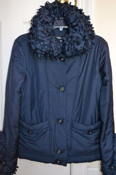 Chanel 14B Navy Blue Jacket Size 38/ US 6 $3,850 3572632217837 | eBay