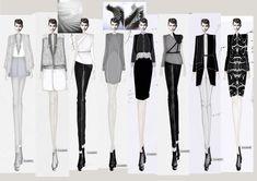 fashion portfolio Fashion Sketchbook - fashion illustrations of the designers final lineup - fashion design; developing a fashion collection; Fashion Illustration Sketches, Fashion Sketchbook, Fashion Sketches, Fashion Portfolio Layout, Portfolio Design, Vogue Fashion, Diy Fashion, Fashion Design, Fashion Degrees