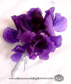 purple boutineers   Auckland and North Shore wedding flowers. Buttonholes and corsages in ...