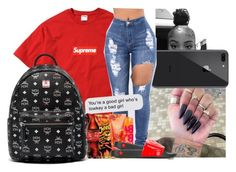 """""""O1."""" by theykraveekayy ❤ liked on Polyvore featuring Champion, MCM and Versace"""