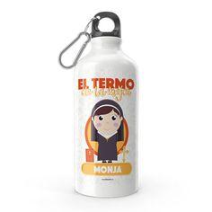 Termo - El termo del mejor monja, encuentra este producto en nuestra tienda online y personalízalo con un nombre. Water Bottle, Drinks, Nun, Carton Box, Store, Crates, Drinking, Beverages, Water Bottles