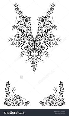 Border Ornament Neck Line Hand Embroidery Patterns Flowers, Hand Work Embroidery, Embroidery Suits Design, Machine Embroidery Patterns, Lace Patterns, Hand Embroidery Designs, Beaded Embroidery, Broderie Simple, Bordado Floral