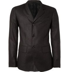 Unstructured Silk Blazer