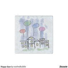 Happy days stone magnet