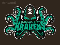 "Kansas City Krakens by Kenneth ""Wheels03"" Wheeler Fantasy Football is a collection of 32 T-shirt designs by talented artists that feature legendary fantasy-themed creatures as sports mascots. They ..."