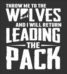 LIMITED EDITION - I Will Return Leading The Pack! - Fabrily
