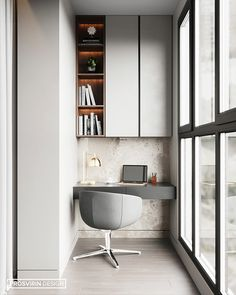 34 Gorgeous Modern Home Office Desk Design Ideas - Just because you are forced to build a home study, does not mean that it has to be old and outdated. Times have changed and there are so many new and . Mesa Home Office, Modern Home Office Desk, Home Office Furniture, Tiny Home Office, Bureau Design, Apartment Interior Design, Modern Interior Design, Home Office Inspiration, Office Ideas