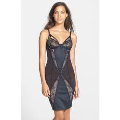 Dita Von Teese 'Madame X' Body-Con Slip ($300) ❤ liked on Polyvore
