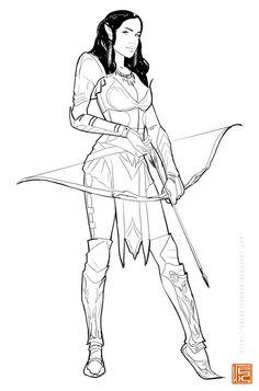 ArtStation - elven archer wip, Ilya Komarov