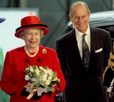 Queen Elizabeth II and Prince Philip, Duke of Edinburgh celebrate their golden anniversary at a luncheon on Nov. 19, 1997.