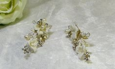 Bridal earrings Bridal jewelry Bridal shower gift by Asnatjewelry