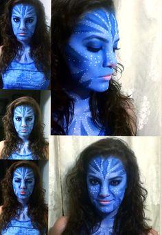 Avatar Halloween makeup Maquillaje para Halloween