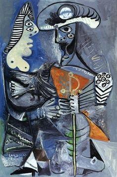 Le matador et femme À l'oiseaux (1970) Picasso