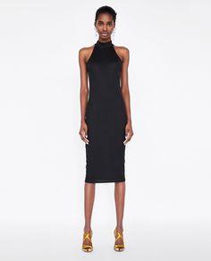 Image 1 of HALTERNECK PENCIL DRESS from Zara