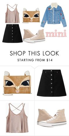 """""""Squirrel mini"""" by tia1721 ❤ liked on Polyvore featuring Betsey Johnson, Miss Selfridge and Converse"""
