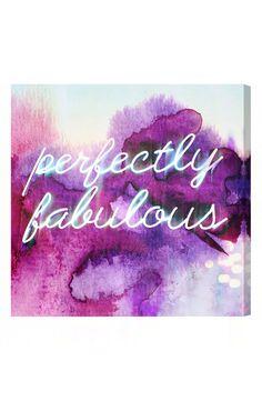 Perfectly fabulous.