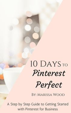 "eGuide to getting started with Pinterest for Business. Takes you step by step though step-up, optimization, and building your ""baseline"" in just 10 days!    http://www.bluefairystudios.com/store/p2/10_Days_to_Pinterest_Perfect_eGuide.html"