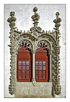 Window detail of one of the many palaces of Sintra - Portugal