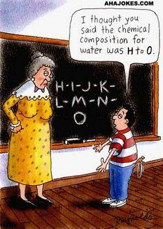Read funny chemistry jokes, chemistry puns and chemistry pick up lines. Laugh with Chemistry Jokes for free! Science Cartoons, Science Jokes, Science Ideas, Science Pics, Weird Science, Science Fun, Teacher Education, Teacher Humor, Teacher Comics