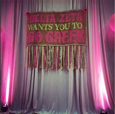 Chic #DeltaZeta #recruitment party with pink #uplighting! #diy #rentmywedding #wedding #uplighting #diywedding #weddingideas #weddinginspiration #ideas #inspiration #celebration #weddingreception #party #weddingplanner #event #planning #dreamwedding
