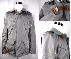 The Escape jacket is skillfully crafted in a slim, contemporary silhouette from water-repellent microfiber for a modern, utilitarian-inspired vibe. Color is hard to find gray with tan leather trim. Statement Jackets, Ralph Lauren Black Label, Gray Jacket, Tan Leather, Gifts For Dad, Raincoat, Boyfriend, Husband, Slim